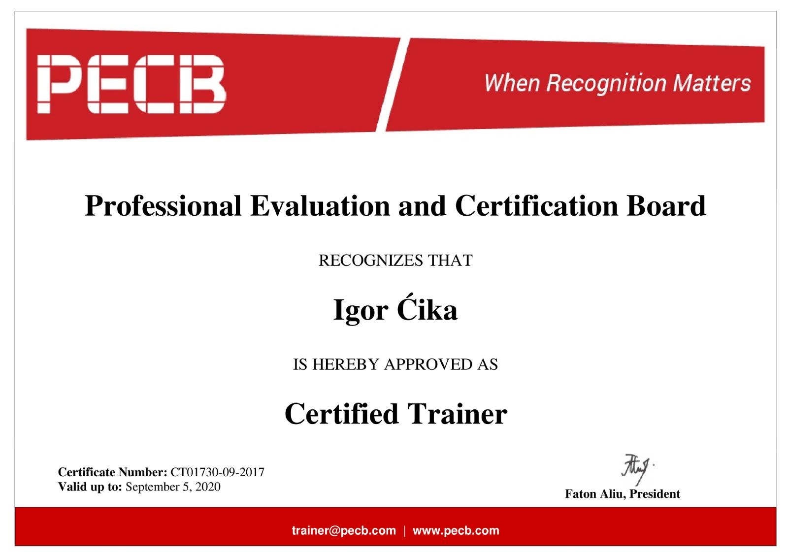 PECB-certificate-trainer